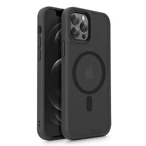 iPhone 12 / 12 Pro Tech-Protect Magmat Bakdeksel- MagSafe Kompatibel - Mat Svart