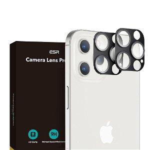 iPhone 12 Pro ESR Beskyttelsesglass til Kameralinse - 2-pak - Sort