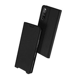 Sony Xperia 10 III DUX DUCIS Skin Pro Series Skinn Flip Deksel - Svart