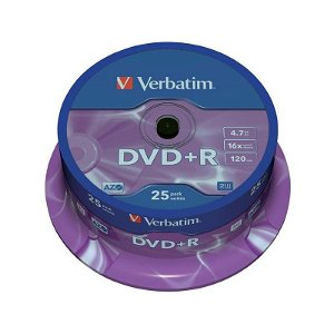 Verbatim DVD+R 16X med 4,7GB - 25 Stk.