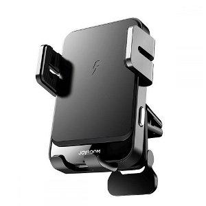 Joyroom Mobile Holder 15W Trådløs mobil lader og lukkemekanisme for ventilasjon - Svart