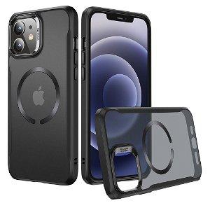 iPhone 12 / 12 Pro ESR Hybrid MagSafe Kompatibel HaloLock Deksel - Gjennomsiktig / Svart
