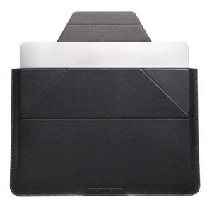 """MOFT Laptop Sleeve 13.3 """"- Vegansk Skinn og Stativ - Svart"""
