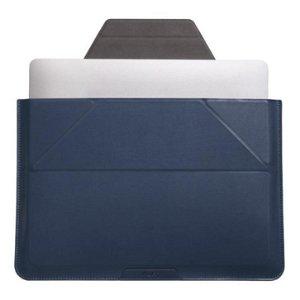 """MOFT Laptop Sleeve 13.3 """"- Vegansk Skinn og Stativ - Navy Blå"""