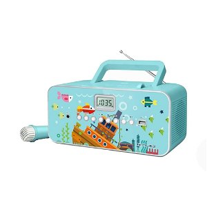 MUSE Bærbar Karaokeradio For Barn Med Mikrofon For Karaoke - Under Havet