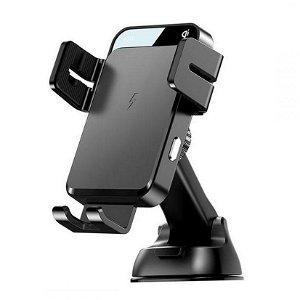 Joyroom Mobile Holder 15W Trådløs lader og sugekoppmekanisme - Svart