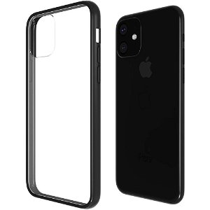 iPhone 11 QDOS Hybrid Clear Mobildeksel - Transparent / Svart
