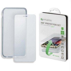 iPhone 8 Plus / 7 Plus 4smarts 360 Graders Beskyttelsessett (Deksel + Herdet Glass)
