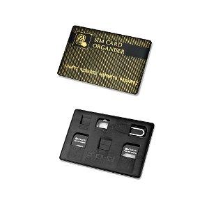 4smarts SIM Card Organiser - Simkort Adapter (Micro Sim + Nano Sim) Svart