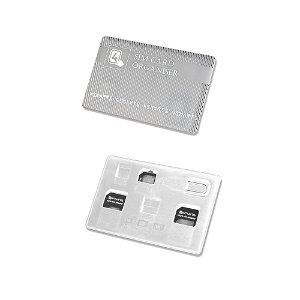 4smarts SIM Card Organiser - Simkort Adapter (Micro Sim + Nano Sim) Hvit