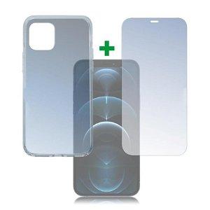iPhone 12 / 12 Pro 4smarts 360⁰ Protection Set (Deksel + Skjermbeskytter)