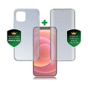 iPhone 12 Mini 4smarts 360⁰ Protection Set Premium Edition (Deksel + Skjermbeskytter)