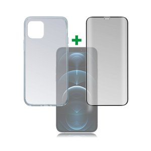 iPhone 12 / 12 Pro 4smarts 360⁰ Protection Set Premium Edition (Deksel + Skjermbeskytter)