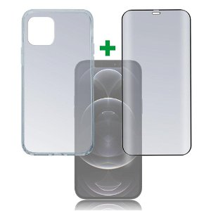 iPhone 12 Pro Max 4smarts 360⁰ Protection Set Premium Edition (Deksel + Skjermbeskytter)