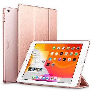 "iPad 10.2"" (2021 / 2020 / 2019) - ESR Tri-fold Yippee Series Slim Deksel - Rose Gull"