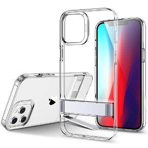iPhone 12 / 12 Pro ESR Air Shield Boost Deksel med Stativfunksjon - Gjennomsiktig