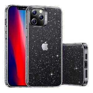 iPhone 12 / 12 Pro - ESR Shimmer Sparkling Crystal Deksel - Sølv / Gjennomsiktig
