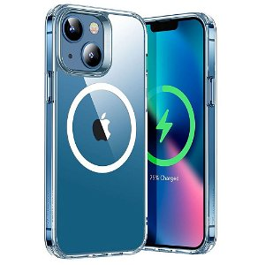 iPhone 13 ESR Hybrid HaloLock Magsafe Kompatibel Bakdeksel - Gjennomsiktig / Sølv