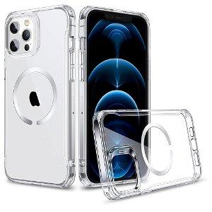 iPhone 12 / 12 Pro ESR Hybrid MagSafe Kompatibel HaloLock Deksel - Gjennomsiktig / Sølv