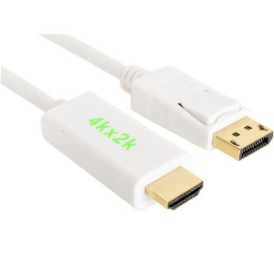 Sandberg 4K Displayport Male - HDMI 2 M. Hvit