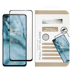 OnePlus Nord CE (5G) PANZER Premium Full Fit Skjermbeskytttelse - Svart Ramme
