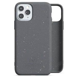 Protektit by Elements Bio Deksel 100% Nedbrytbart Deksel til iPhone 11 Pro - Manta Ray Grey