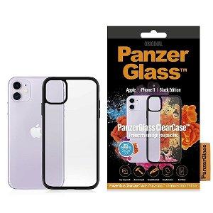 iPhone 11 Deksel PanzerGlass ClearCase Svart Kant