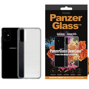 PanzerGlass ClearCase Samsung Galaxy S20+ (Plus) Deksel m. Glassbakside Gjennomsiktig