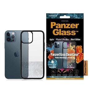 iPhone 12 Pro Max Deksel PanzerGlass ClearCase Antibakteriell - Svart Kant