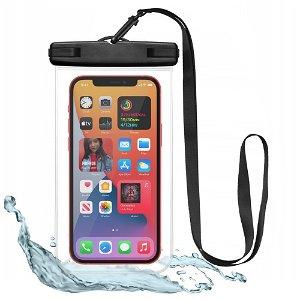 Tech-Protect Universal Vanntett Case Etui - svart / gjennomsiktig  (Maks. Mobil: 163 x 90 x 10 mm)