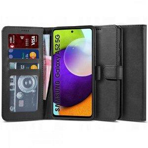 Samsung Galaxy A52s (5G) / A52 (4G / 5G) Tech-Protect Wallet 2 Flipdeksel i skinn - Svart