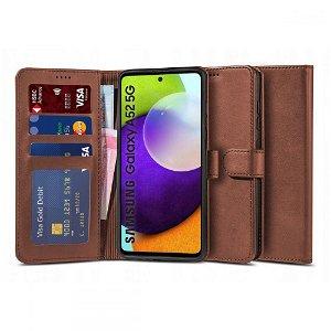 Samsung Galaxy A52s (5G) / A52 (4G / 5G) Tech-Protect Wallet 2 Flip Deksel i Skinn - Brun