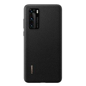 Original Huawei P40 PU Deksel - Svart