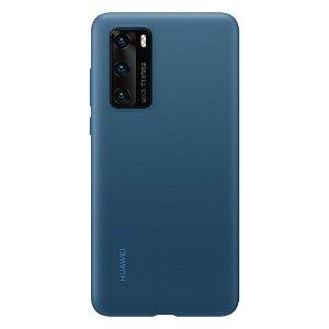 Original Huawei P40 Silikondeksel - Blå