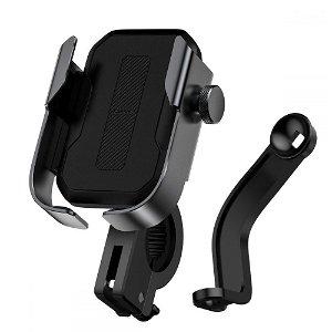 Baseus Armor Mobilholder Til Sykkel & Motorsykkel - Svart (Maks Bredde. 7 cm)