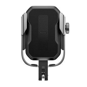 Baseus Armor Mobilholder Til Sykkel & Motorsykkel - Sølv (Maks Bredde. 7 cm)