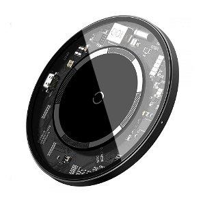 Baseus Simple Trådløs lader 15W - MagSafe Kompatibel - Gjennomsiktig