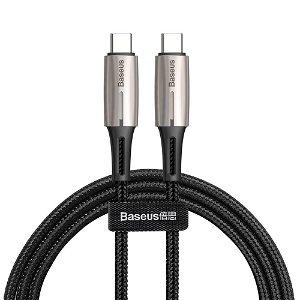 Baseus Vanndråpe formet PD (5A/60W) - USB-C Til USB-C 2.0 Kabel 1 med - Svart