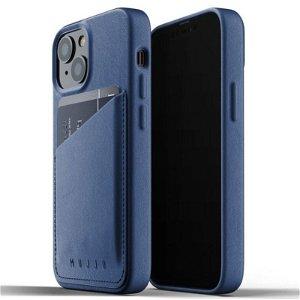 Mujjo iPhone 13 Mini Vegan Leather Wallet Deksel - Blå