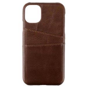 iPhone 11 GEAR Onsala Collection Mobil Deksel m. Kortholder / Skinn - Brun