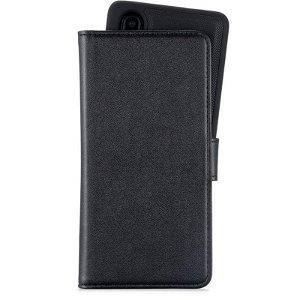 Huawei P30 Holdit Wallet Case Magnet - Skinn Etui med Avtagbart Deksel - Svart