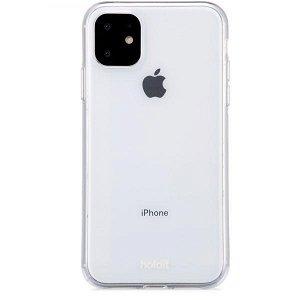 Holdit iPhone 11 Soft Touch PU Deksel - Gjennomsiktigt