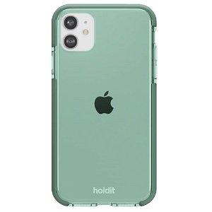 Holdit iPhone 11 Seethru Bakdeksel - Mosegrønn