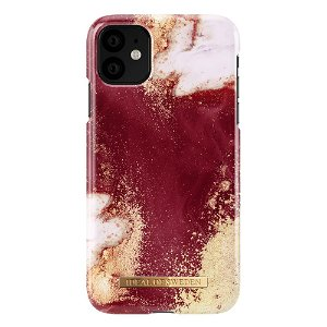 iDeal Of Sweden iPhone 11 Fashion Case Burgundy Marble