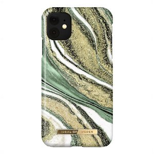 iDeal Of Sweden iPhone 11 Fashion Case Cosmic Green Swirl
