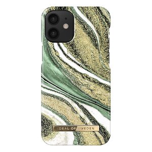 iDeal Of Sweden iPhone 12 Mini Fashion Case - Cosmic Green Swirl