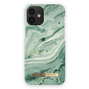 iDeal Of Sweden iPhone 12 Mini Motedeksel Mint Swirl Marble