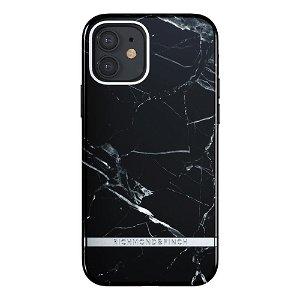 Richmond & Finch iPhone 12 Mini Deksel - Black Marble