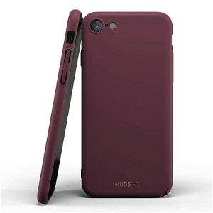 Nudient Thin Case V2 iPhone SE (2020) / 8 / 7 Deksel - Sangria Red
