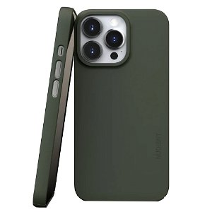 Nudient Thin Case V3 iPhone 13 Pro Deksel - Pine Green